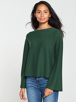 oasis-ivy-bell-sleeve-jumper