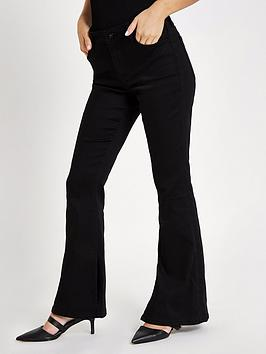 Ri Petite Petite Marnie Flare Jeans - Black
