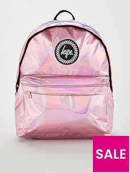 hype-kids-holographic-backpack-pink