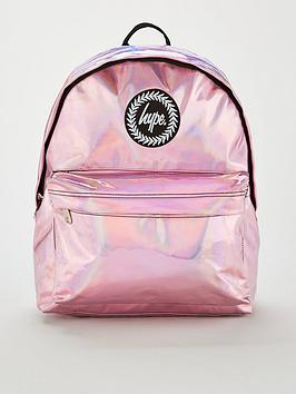 Hype Kids Holographic Backpack - Pink