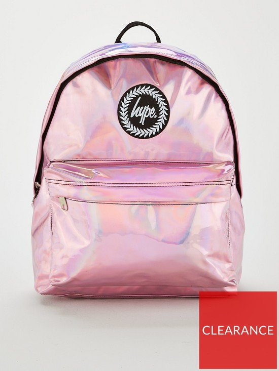 20b8bd6d6a97 Hype Kids holographic Backpack - Pink