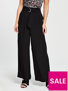 oasis-wide-leg-d-ring-trouser-black