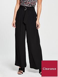 oasis-wide-leg-d-ring-trouser-black
