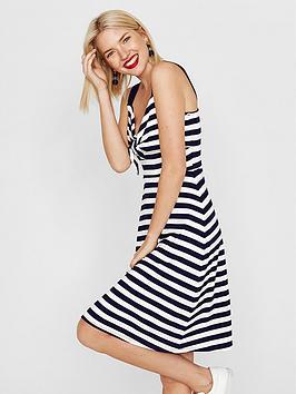 oasis-knot-front-stripe-sundress