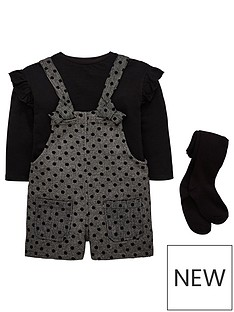 mini-v-by-very-girls-spot-dungaree-shorts-top-tights-outfit
