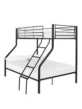 Domino Metal Trio Bunk Bed - Bed Frame With 2 Standard Mattresses