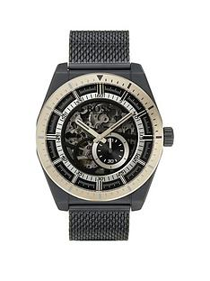boss-skeleton-black-and-rose-gold-plated-dial-black-ip-stainless-steel-mesh-strap-mens-watch