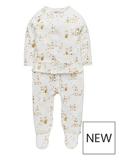 baker-by-ted-baker-baby-girls-bunnies-velour-sleepsuit-set