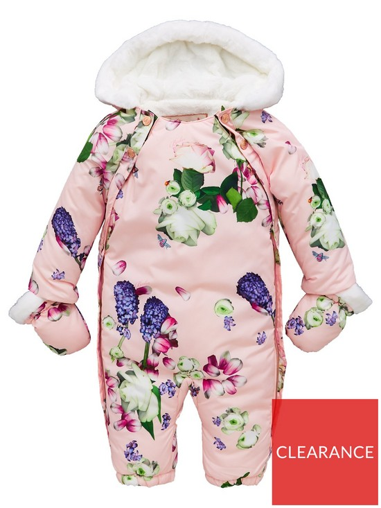 a4a7e07f0beed4 Baker by Ted Baker Baby Girls All Over Print Snowsuit