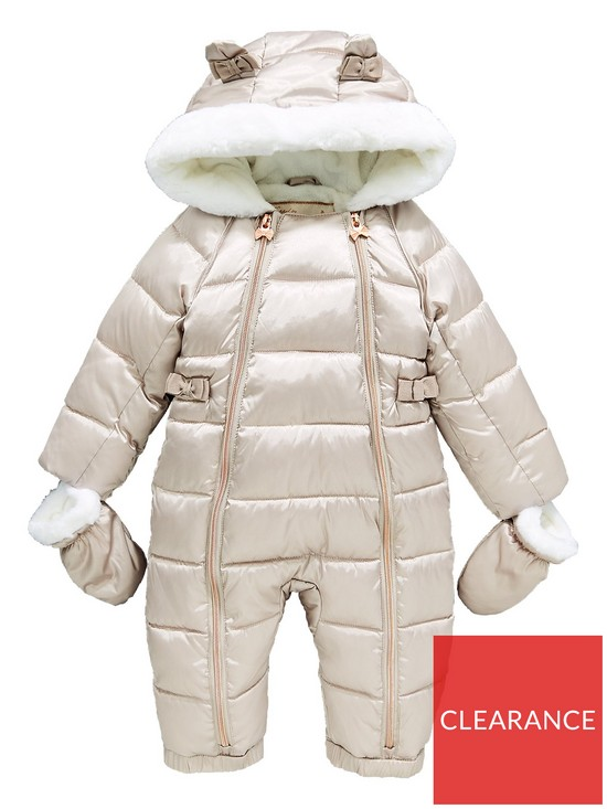 0564b6d2a Baker by Ted Baker Baby Girls Pearlised Snowsuit