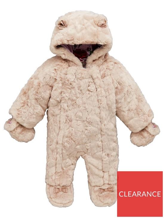 774084ded Baker by Ted Baker Baby Girl Faux Fur Snowsuit