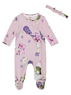 baker-by-ted-baker-baby-girls-aop-sleepsuit-amp-headband