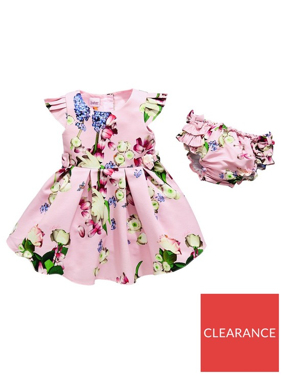 2b1e4e7411d2c Baker by Ted Baker Baby Girls Printed Dress   Knickers