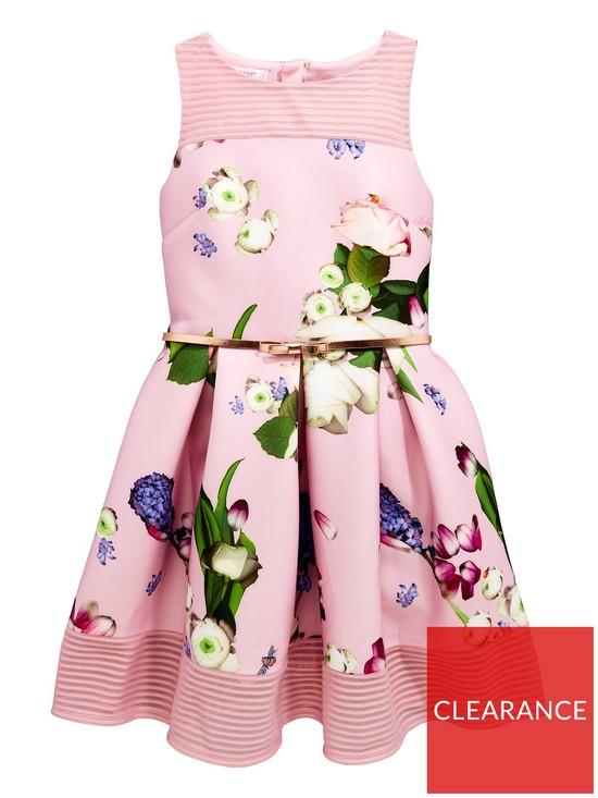 2ac27e059e84 Baker by Ted Baker Girls Foiled Scuba Dress - Light Pink