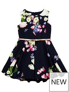 326ac8e8f0384 Baker by Ted Baker Girls Floral Print Belted Prom Dress