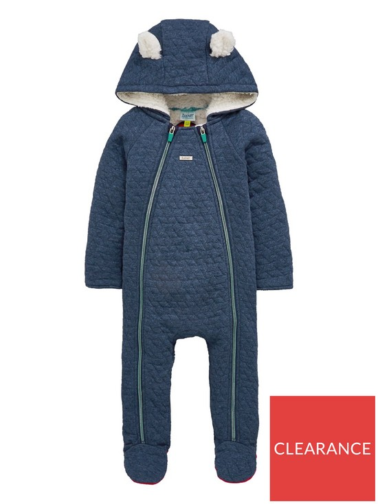 79ae2bb6d94f1 Baker by Ted Baker Baby Boys Borg Lined Quilted Snuggle Suit