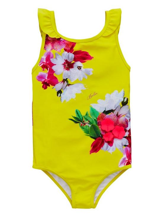 52212db63dad8 Baker by Ted Baker Toddler Girls Floral Placement Swimsuit