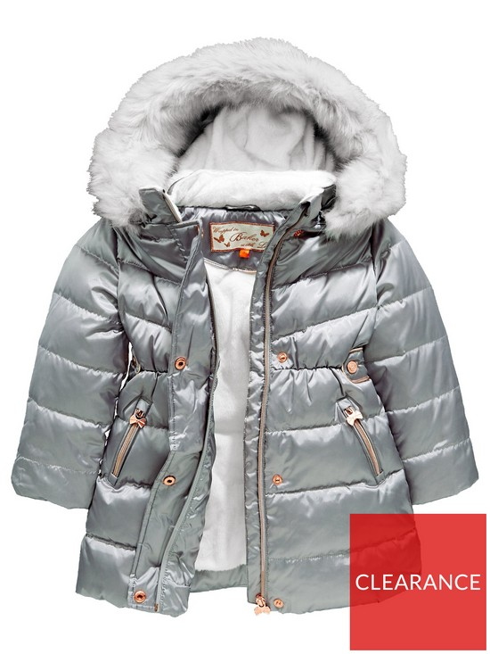 7f7bed5f34ac9d Baker by Ted Baker Girls Faux Fur Hood Padded Coat