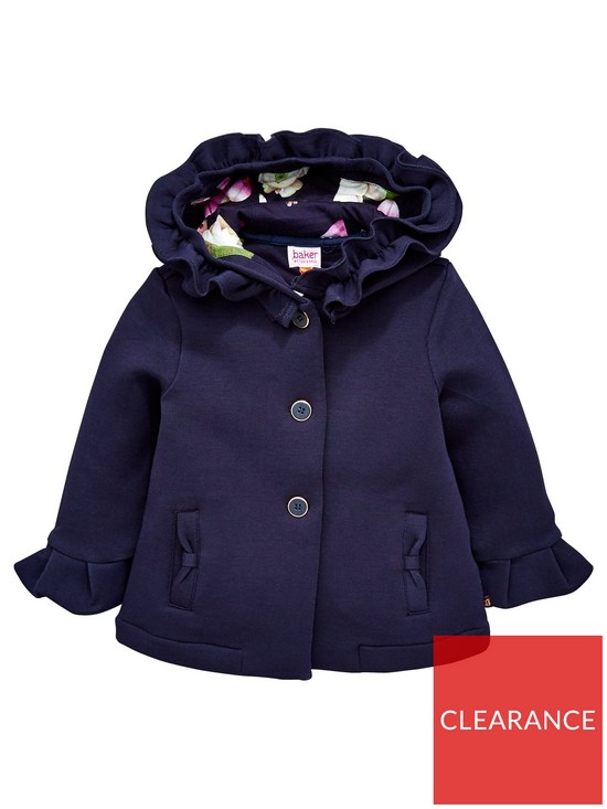 bc8e250c68cbc3 Baker by Ted Baker Baby Girls Frill Hooded Jacket
