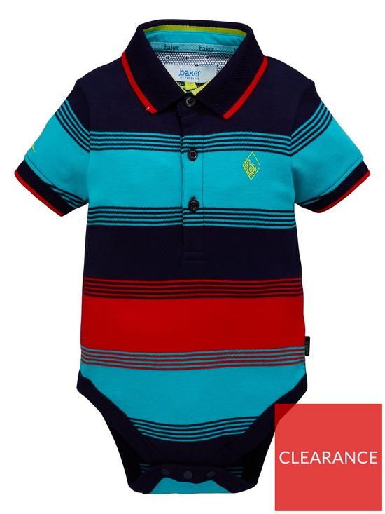 e7c4cfafa00e26 Baker by Ted Baker Baby Boys Short Sleeve Striped Bodysuit - Multi ...
