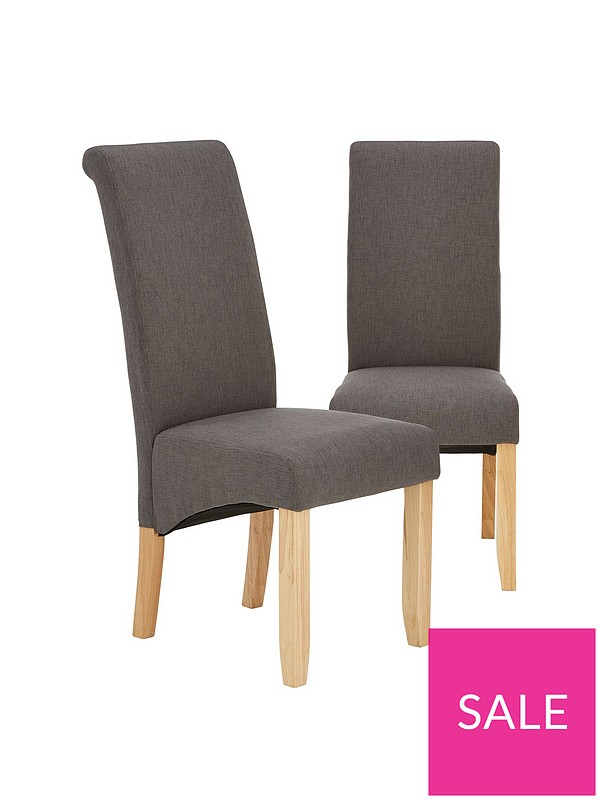 new products fb46e 552d9 Pair Of Chatham Fabric Dining Chairs