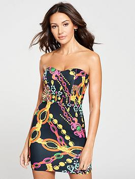 michelle-keegan-sweetheart-bandeau-bodycon-dress-print