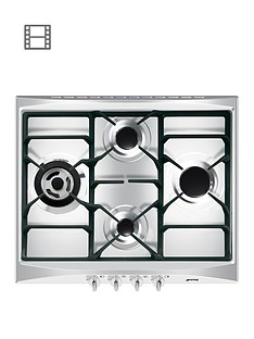 smeg-cucina-sr264xgh-60cmnbspwide-4-burner-gas-hob-with-ultra-rapid-burner-stainless-steel