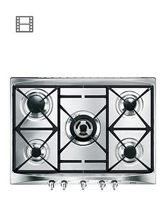 smeg-cucina-sr275xgh-69cmnbsp5-burner-gas-hob-with-ultra-rapid-burner-stainless-steel
