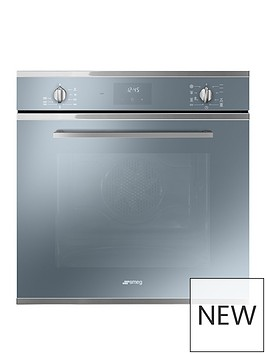 smeg-cucina-sf6400tvs-60cm-multifunction-single-built-in-oven-with-vapor-clean-technology-silver-glass