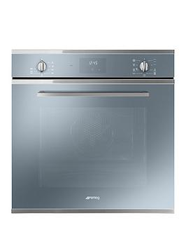 Smeg Cucina Sf6400Tvs 60Cm Multifunction Single Built In Oven With Vapor Clean Technology - Silver Glass