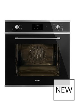 smeg-cucina-sf6400tvn-60cm-multifunction-single-built-in-oven-with-vapor-clean-technology-black