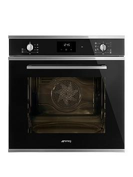Smeg Cucina Sf6400Tvn 60Cm Multifunction Single Built-In Oven With Vapor Clean Technology - Black