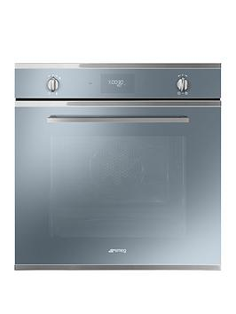 Smeg Cucina Sfp6401Tvs 60Cm Multifunction Built-In Electric Oven With Pyrolytic Cleaning - Silver Glass