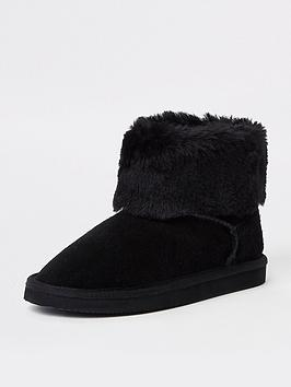 river-island-girls-black-suede-faux-fur-lined-boots