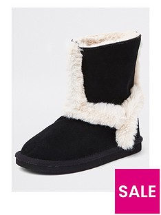 river-island-girls-black-suede-faux-fur-lined-ankle-boots