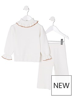river-island-mini-girls-cream-knit-roll-neck-outfit