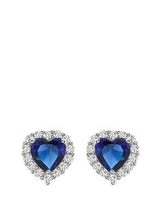love-gem-9ct-white-gold-sapphire-amp-cubic-zirconia-heart-stud-halo-earrings