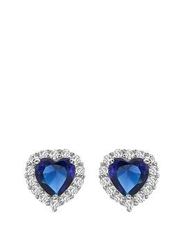 love-gem-9ct-white-gold-sapphire-cubic-zirconia-heart-stud-halo-earrings