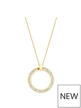 love-gold-9ct-gold-cubic-zirconia-circle-pendant-necklace