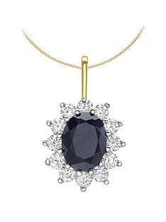 love-gem-9ct-gold-sapphire-amp-cubic-zirconia-halo-pendant-necklace