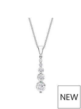 love-gold-9ct-white-gold-graduated-cubic-zirconia-pendant-necklace