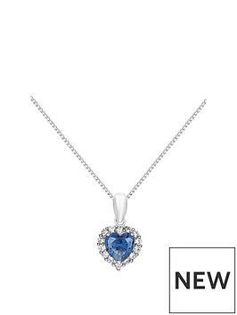 love-gem-9ct-white-gold-amp-blue-cubic-zirconia-heart-pendant-necklace