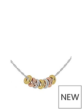 the-love-silver-collection-sterling-silver-tri-colour-rings-necklace