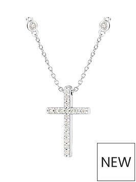 the-love-silver-collection-sterling-silver-cubic-zirconia-cross-pendant-necklace