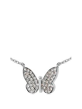 the-love-silver-collection-rhodium-plated-sterling-silver-cubic-zirconia-butterfly-pendant-necklace