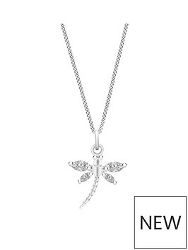 the-love-silver-collection-sterling-silver-cubic-zirconia-dragonfly-pendant-necklace