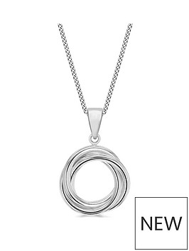 the-love-silver-collection-sterling-silver-russian-knot-pendant-necklace