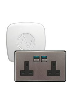 lightwave-smart-power-starter-kit-stainless-steel-works-with-apple-homekit-google-assistant-and-amazon-alexa