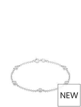 the-love-silver-collection-sterling-silver-amp-cubic-zirconia-station-bracelet