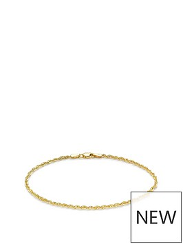 love-gold-9ct-gold-sparkle-rope-chain-bracelet